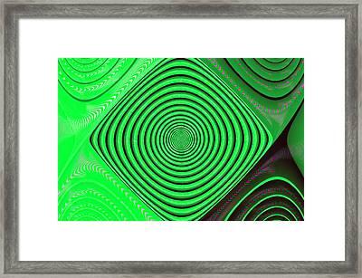 Focus On Green Framed Print by Carolyn Marshall
