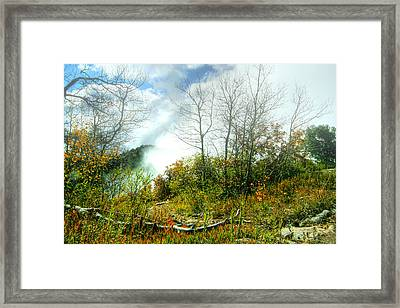 Fog On Mountain Top Framed Print by Joe Myeress
