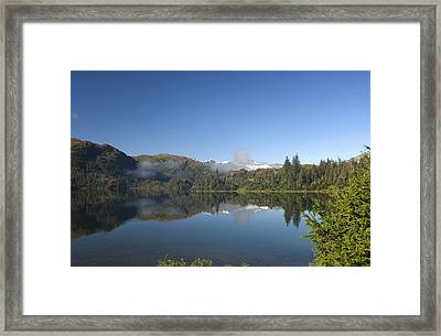 Fog Over Shrode Lake II Framed Print by Gloria & Richard Maschmeyer
