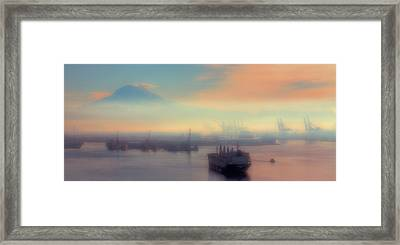 Fog Over The Tide Flats Framed Print by David Patterson
