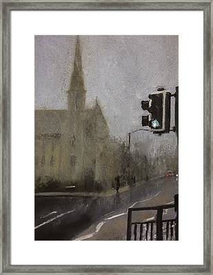 Foggy Herne Bay 1 Framed Print by Paul Mitchell