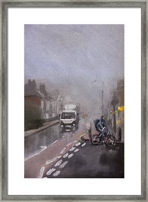 Foggy Herne Bay 2 Framed Print by Paul Mitchell