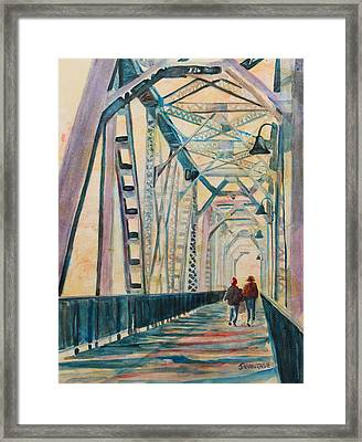 Foggy Morning On The Railway Bridge IIi Framed Print by Jenny Armitage