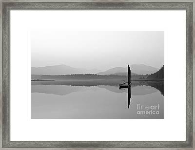 Foggy Ocean Morning Framed Print by Darcy Michaelchuk