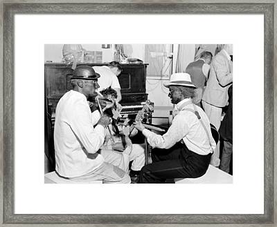Folk Music. Itinerant Laborers Framed Print by Everett