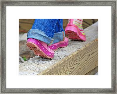 Follow The Leader Framed Print by Lisa Phillips