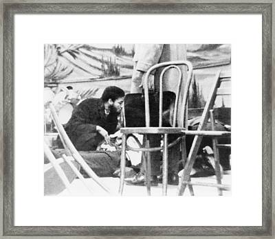 Followers Of Malcolm X Kneel Framed Print by Everett