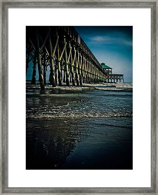 Folly Beach Pier Framed Print by Jessica Brawley