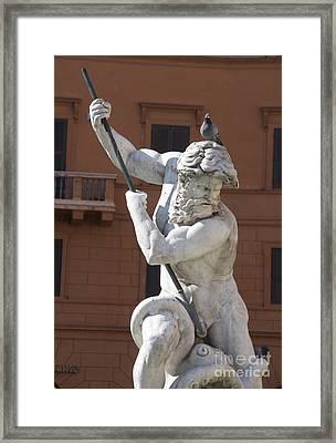 Fontana Del Nettuno. Neptune Fountain. Piazza Navona. Rome Framed Print by Bernard Jaubert