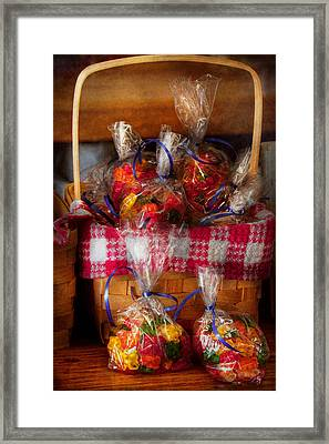 Food - Candy - Gummy Bears For Sale Framed Print by Mike Savad