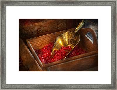 Food - Candy - Hot Cinnamon Candies  Framed Print by Mike Savad