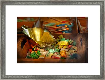 Food - Candy - One Scoop Of Candy Please  Framed Print by Mike Savad