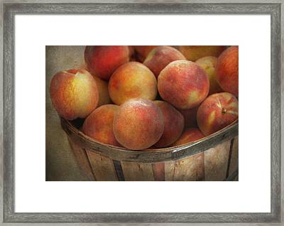 Food - Peaches - Just Peachy Framed Print by Mike Savad