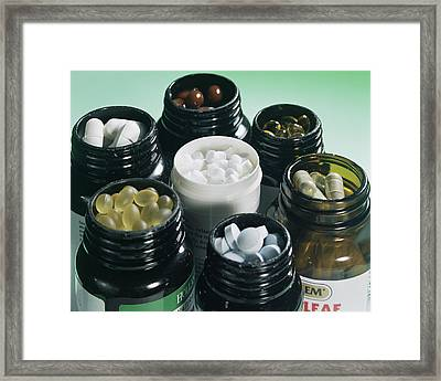 Food Supplements Framed Print by Sheila Terry
