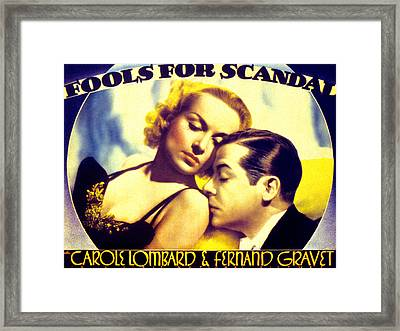 Fools For Scandal, Carole Lombard Framed Print by Everett