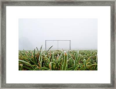 Football Goal Framed Print by Ulrich Mueller
