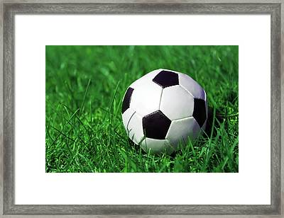 Football Framed Print by Kelly Bowden