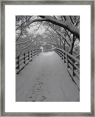Footbridge Framed Print by Jeff Penny