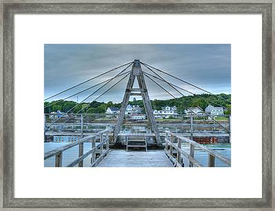 Footbridge Tower Framed Print by Ron St Jean