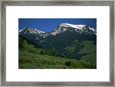 Foothills Of Tobacco Root Mountains Framed Print by Gordon Wiltsie