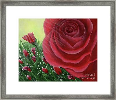 For The Love Of Roses Framed Print by Kristi Roberts