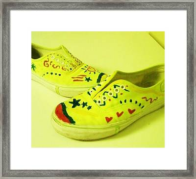 For The Love Of Shoes Framed Print by Krystyn Lyon