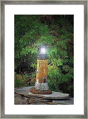 For Whom The Light Shines Framed Print by Cyryn Fyrcyd