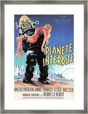 Forbidden Planet, Robby The Robot Framed Print by Everett