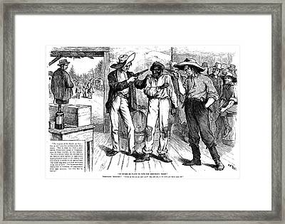 Forcing The Black Vote Framed Print by Granger