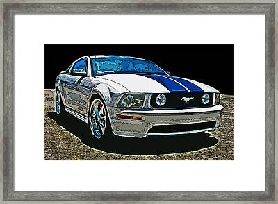 Ford Mustang Gt Framed Print by Samuel Sheats