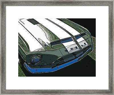 Ford Shelby Gt500 Front View Framed Print by Samuel Sheats