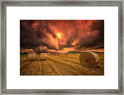 Foreboding Sky Framed Print by Mark Leader
