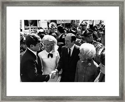 Foreground Senator Edward M. Kennedy Framed Print by Everett
