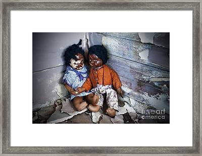 Forgotten Dolls Study IIi Framed Print by Norma Warden