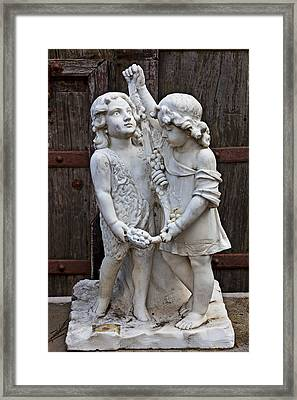 Forgotten Statue Framed Print by Garry Gay