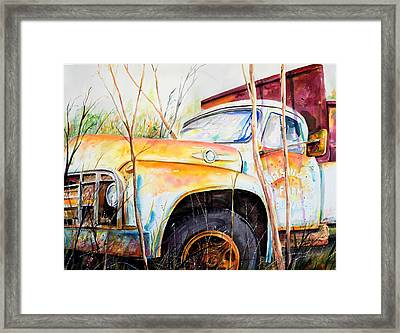 Forgotten Truck Framed Print by Scott Nelson