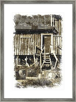 Forgotten Wooden House Framed Print by Heiko Koehrer-Wagner