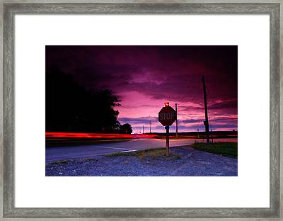 Fork In The Road Framed Print by Cale Best