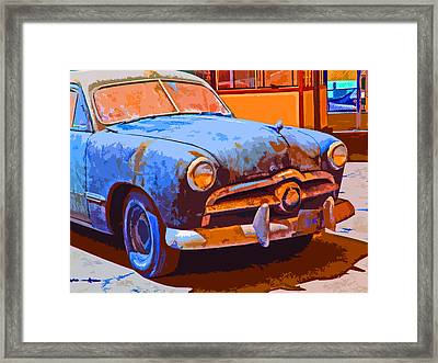 Forlorn 1949 Ford  Front Study Framed Print by Samuel Sheats