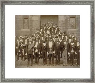 Formally Dressed African American Men Framed Print by Everett