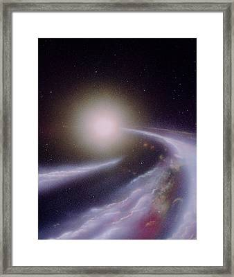 Formation Of A New Star Framed Print by Julian Baum