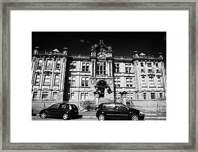 Former Kilmarnock Technical School And Academy Building Now Academy Apartments Scotland Uk Framed Print by Joe Fox