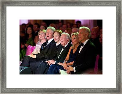 Former Presidents Bill Clinton Framed Print by Everett