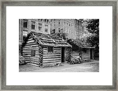 fort nashborough stockade recreation Nashville Tennessee USA Framed Print by Joe Fox