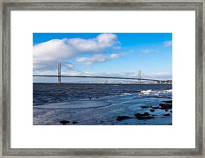 Forth Road Bridge Framed Print by Gary Finnigan
