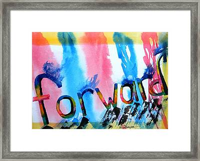 Forward Framed Print by Warren Thompson