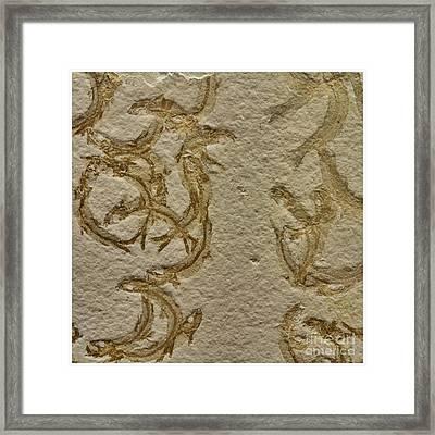 Fossils - Leptolepides Sprattiformis Framed Print by Heiko Koehrer-Wagner