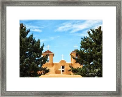 Four Crosses Framed Print by Tamera James