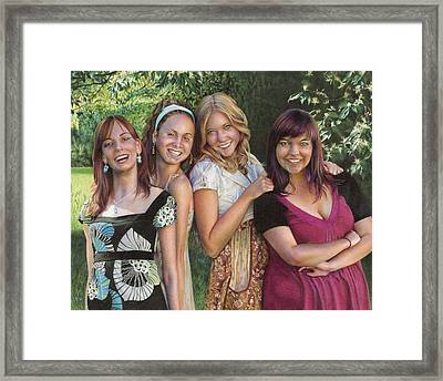 Four Friends  Framed Print by Laura Leonard