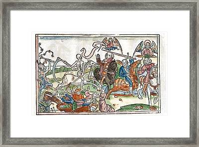 Four Horsemen Of The Apocalypse, 1522 Framed Print by King's College London